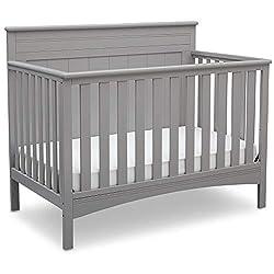powerful Delta Children Fancy 4-in-1 Convertible Bed, Gray