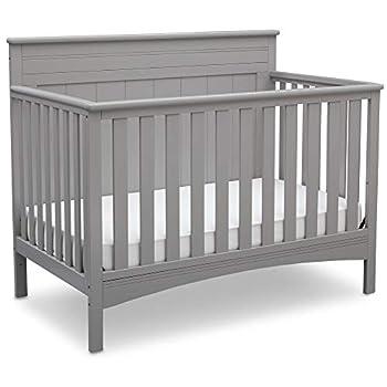 Delta Children Fancy 4-in-1 Convertible Baby Crib Grey