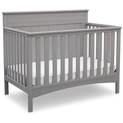 Delta Children Fancy 4-in-1 Convertible Baby Crib, Grey