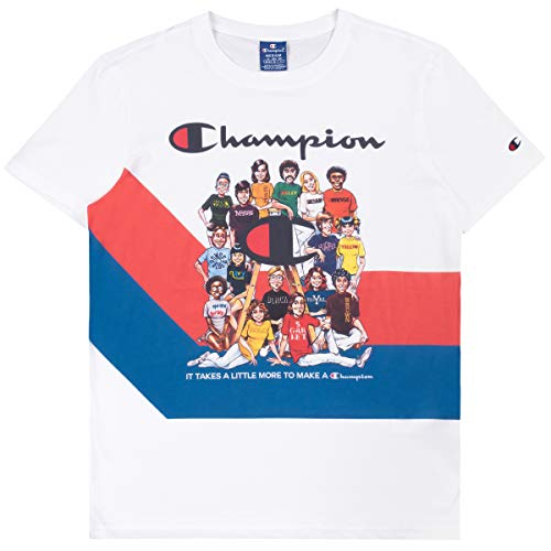 Champion T Shirt Uomo Bianco Bianco, S