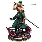 One Piece Three Swords Roronoa Zoro Figura Modelo, 39Cm Anime Estatua Exquisita Colección De Juguete...