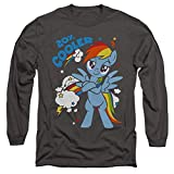 My Little Pony Tv 20 Percent Cooler Unisex Adult Long-Sleeve T Shirt for Men and Women, Medium Charcoal