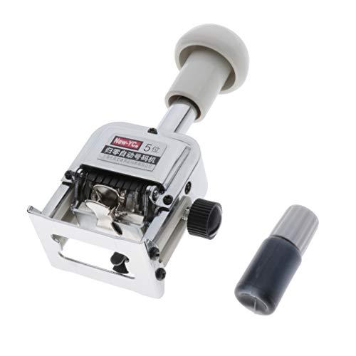perfk Máquina Automática de Numeración, Mano de Obra Fina, Estampada, Duradera, Fácil de Usar, Limpia y Fácil de Usar - 5 Dígitos 🔥