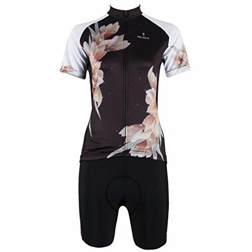 PaladinSport Women's Lily Short Sleeve Cycling Clothing Set Asian Size XS