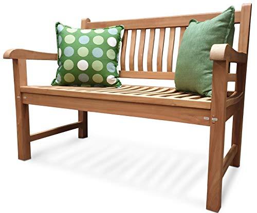ATLANTIS Outdoor | tuinbank | Comfort Plus + | 3-zits / 150 cm | van massief teakhout | zitbank tuin/balkon | weerbestendig | teakbank | klassieke look (voor tuins)