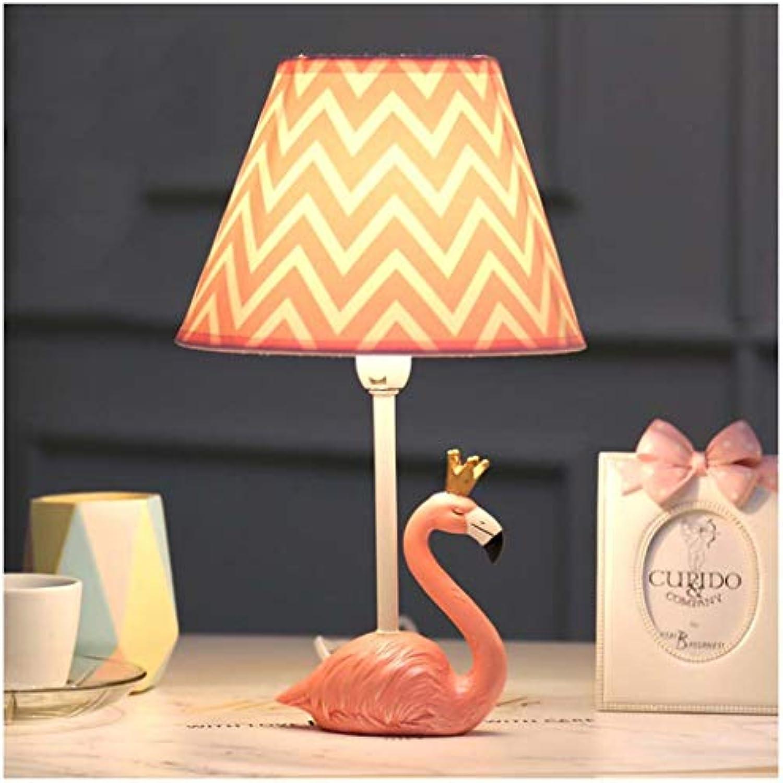 CJW Cartoon Flamingo LED Tischleuchte Schlafzimmer Kreative Warm Hochzeitszimmer Hochzeitsgeschenk