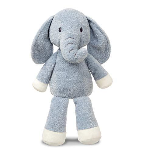 Aurora Elly 61225 pluche dier olifant, zacht, blauw-grijs en crèmekleurig, 35,6 cm, knuffeldier, cadeau-idee