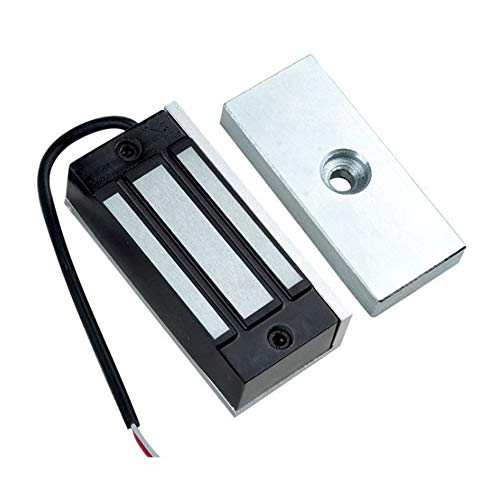 AMAO Elektromagnet 12v Magnetschloss Elektronische 60kg 132lbs Tür- Zutrittskontrollsystem Elektromagnet Hostcontroller Tür Eintrag ausfallsichere NC-Modus