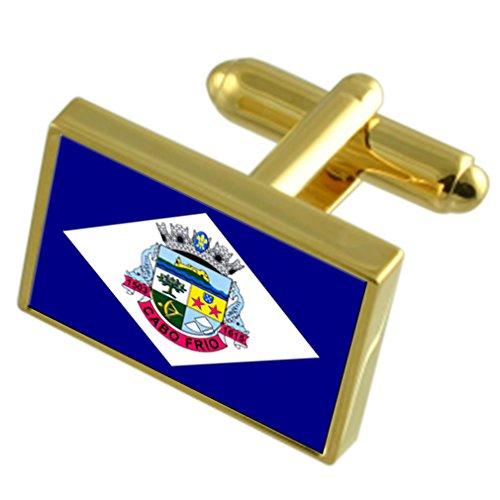 Cabo Frio, ciudad del estado de Río de Janeiro gemelos Bandera de...