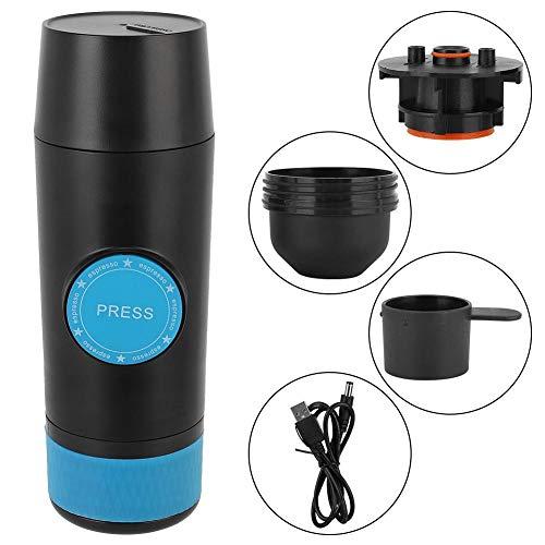 Koffiezetapparaat, handbediende koffiemachine, mini-USB oplaadbare koffiemachine, koffiemachine voor in de auto, 5V 6W poedercapsulemaker voor thuisreizen, vlekbestendig en ultrastille werking