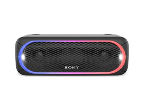 Sony SRS-XB30 Altoparlante Wireless Portatile, Extra Bass, Bluetooth, NFC, USB, Resistente all'Acqua IPX5, Nero