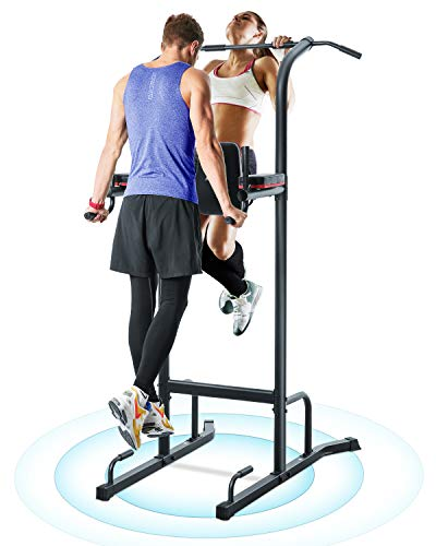 MaxKare Power Tower Pull Up Bar Dip Station Pull Up Rack Exercise Equipment Stand Machine for Fitness Home Gym Multi-Function Training - Maximum Stability - 380lbs Weight Capacity