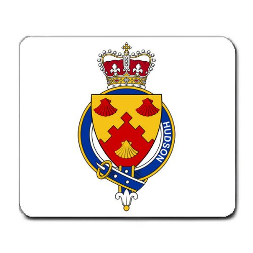 Hudson England Family Crest Coat of Arms Mouse Pad