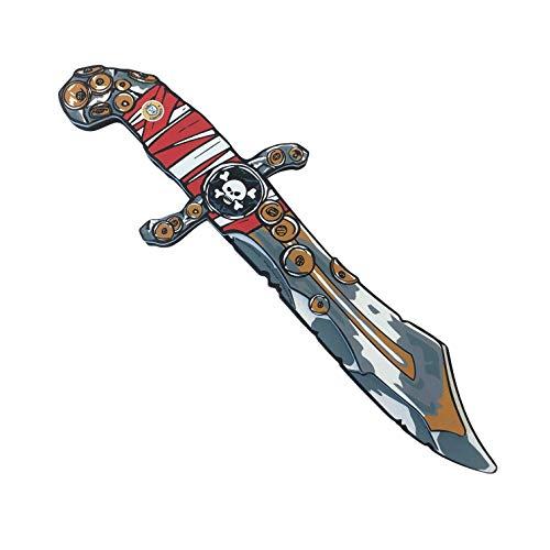 Liontouch 22801LT Pirat Rotstreifen Schaumstoff Messer für Kinder | Teil von Kostüm