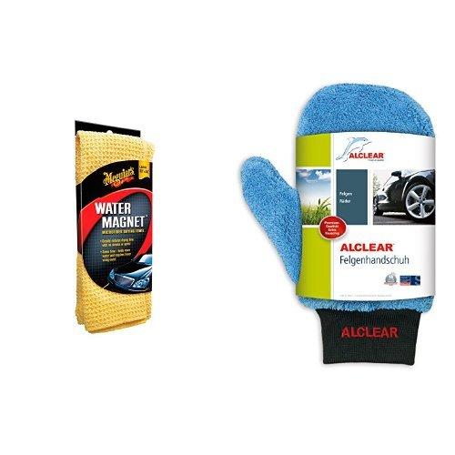 Meguiars ME X2000 Water Magnet Microfiber Drying Towel und ALCLEAR Felgenhandschuh