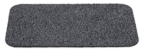 Carpet Diem Standard Fußmatte waschbar aus 80% Baumwolle, saugfähige Schmutzfangmatte in Anthrazit Grau 40x60cm