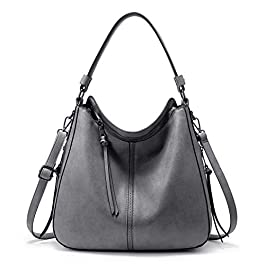 Realer Grand sac à main pour femme en simili cuir