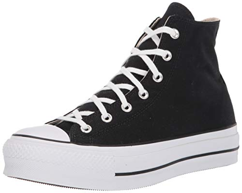 Converse Damen CTAS Lift HI Sneakers, Schwarz (Black/White/White 001), 39.5 EU