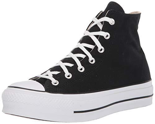 Converse Chuck Taylor CTAS Lift Hi, Zapatillas para Mujer, Negro (Black/White/White 001), 38 EU