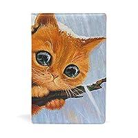 ブックカバー 文庫 a5 皮革 レザー 可愛い猫 文庫本カバー ファイル 資料 収納入れ オフィス用品 読書 雑貨 プレゼント