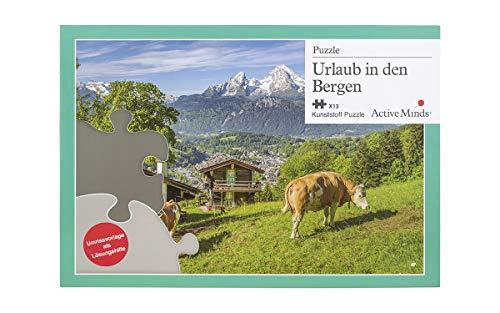 Active Minds 13 Teile Puzzle 'Urlaub in den Bergen' (deutschsprachig)   für Senioren mit Demenz & Alzheimer   Beschäftigung & Aktivierung