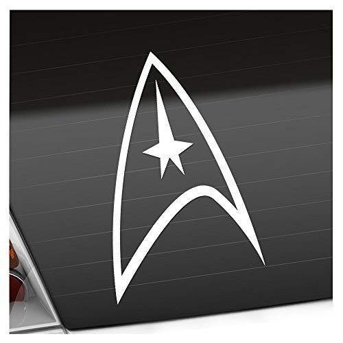 Sternenflotte Abzeichen 10 x 16 cm IN 15 FARBEN - Neon + Chrom! Sticker Aufkleber