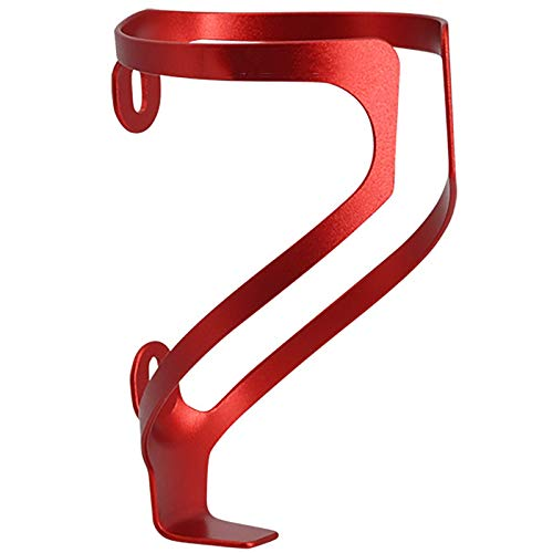Sunbobo Bicycle bottle cage Aluminum Alloy Mountain Bike Water Cup Holder Riding Accessories Super Light Bicycle Bottle Cage Mountain bike bottle cage (Color : Red, Size : 11.5x7cm)