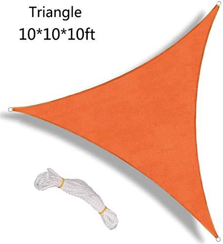 BCLGCF Sun Shade Sail Waterproof Triangle, 95% UV Blocker Sunshade Patio, Outdoor Heavy Duty Sail Canopy for Patio Garden Outdoor Facility And Activities (Orange)