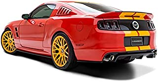 Velocity Concepts Black GT 3 Vent Style Rear 1/4 Quarter Side Window LOUVERS V2 05-14 for Ford Mustang