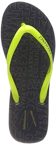 ARMANI EXCHANGE Rubber Slide Multicolor, Infradito Donna, Verde (Lime+ Dk Grey 00057), 37 EU