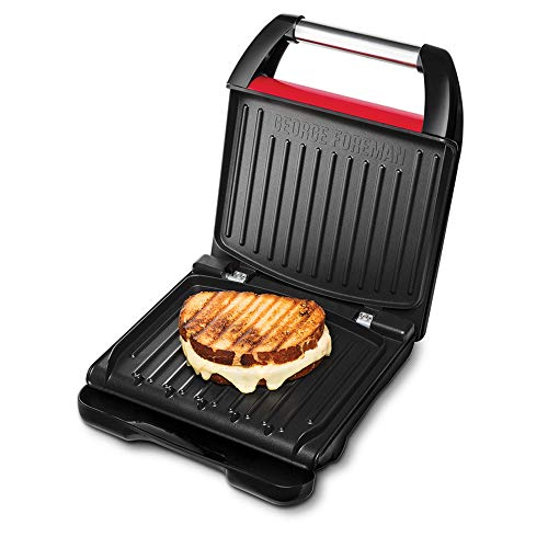 George Foreman 25040 – 56 Fitness Barbacoa, 1650, acero inoxidable, color rojo