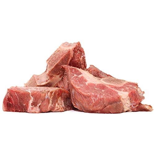 Raw Paws Frozen Beef Raw Meaty Bones for Dogs, 8-lbs - Made in USA - Human Grade Meaty Dog Bones for Large Dogs to Puppies - from Free-Range, Grass-Fed Cattle - Real Dog Bones - Raw Bones for Dogs