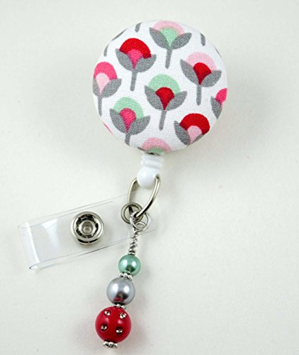 Spring Time Flowers - Nurse Badge Reel - Retractable ID Badge Holder - Nurse Badge - Badge Clip - Badge Reels - Pediatric - RN - Name Badge Holder