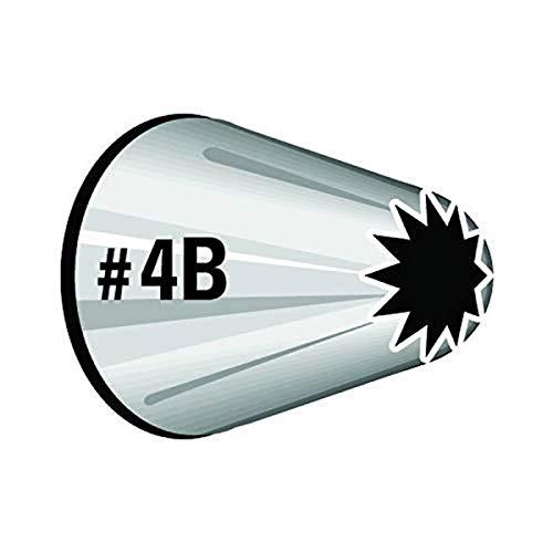Wilton Boquilla Número 4B, Acero Inoxidable, Plateado, 3.98x4.62x9.42 cm