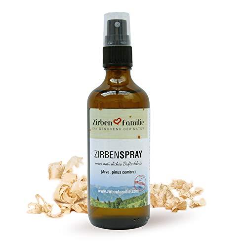 Zirben Familie das Original natürliches Zirbenspray 100ml • naturbelassenes Duftspray • destilliert von Zirbenkiefern