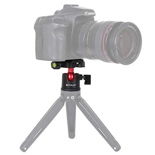 YGMOTO GTDD Cabeza de Bola de Metal panorámica AYSMG con rotación de 360 Grados y Placa de liberación rápida for cámaras Digitales y réflex Digitales (Negro) (Color : Black)