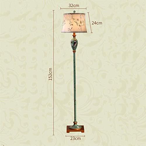 CESULIS De pie luminarias de estilo europeo retro luces de piso de la sala de estar dormitorio estilo americano vertical Lámparas de pie, Estudio chino lámparas de pie, Incluye bombilla Decoración Hog