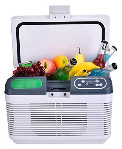 SHUHANG Mini refrigerador Refrigerador eléctrico y Calentador 12L Calentador de refrigerador eléctrico portátil para Office College Dorm Room (Color : White, Size : 12L)