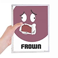 赤い感情が眉をしかめる 硬質プラスチックルーズリーフノートノート