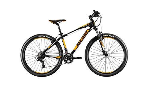 Bicicleta de montaña Atala 2020 Replay 27,5 pulgadas VB, 21 velocidades, talla S 153 cm a 170 cm, color negro y naranja