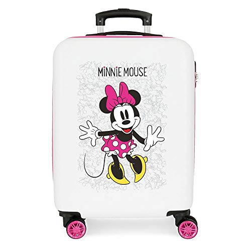 Disney Minnie Enjoy the Day Maleta de cabina Blanco 40x55x20 cms Rígida...