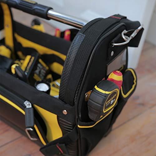 Stanley FatMax Werkzeugtrage, 48x33x22cm, 600 Denier Nylon, wasserdichter Kunststoffboden, ergonomischer Gummigriff, Rahmen stahlverstärkt, verstellbarer Schultergurt, 1-93-951 - 8