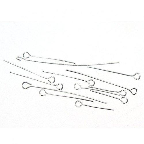 Stecker mit Ösenkopf, Zubehör zur Schmuckherstellung, 200 Stück, silber