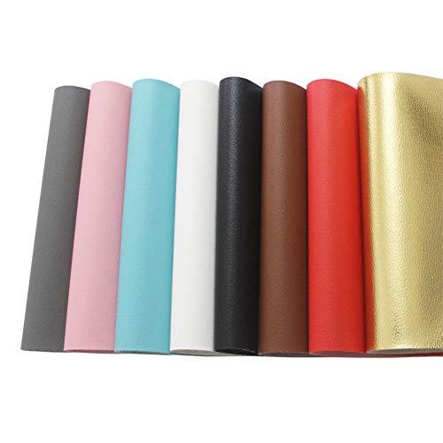 Kunstleder-Bögen, 8 Stück PU-Leder-Stoff-Blätter für Leder-Ohrringe, Taschen, Schleifen, Basteln, DIY Dekoration(20,3 x 30,5 cm)