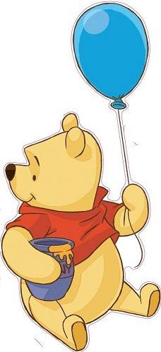 Winnie The Pooh Balloon Removable Wall Art Stickers Kids Boy Girls Nursery Decor