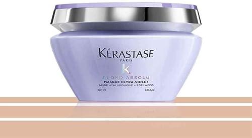 Kerastase - Gamme Blond Absolu - Masque Ultra-Violet pigmenté violet anti faux-reflets pour cheveux blonds décolorés ...