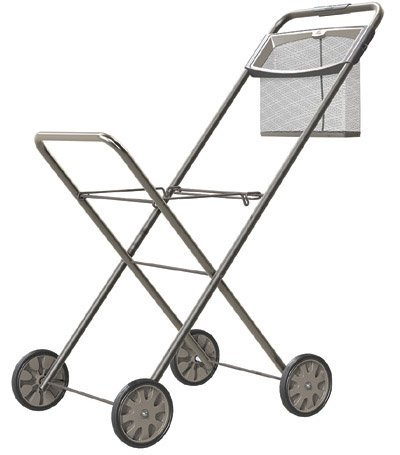 Hills FE209549 Wäschetrolley, Metall, Weißer Rahmen mit schwarzen Rädern, 920mm x 780mm x 450mm