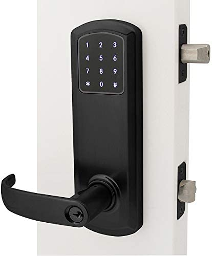 """Left Hand 4/"""", Bright Brass Limited Edition Prodigy SmartLock MaxSecure Interconnect Commercial Grade Lock with RFID Keyless Entry"""