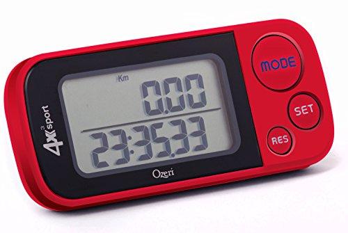 Ozeri 4x3sport Schrittzähler und Aktivitätsmesser, Taschenformat, mit Tri-Axis-Technologie und Speicher für 30 Tage Fitness-Tracker