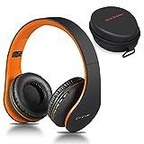 Casque Bluetooth sans Fil, Wireless Headphones Stéréo on Ear Pliable Casque 4 en 1 avec Micro...